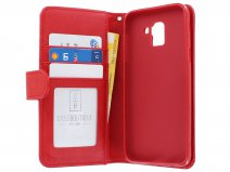 Zipper Book Case Rood - Samsung Galaxy J6 2018 hoesje