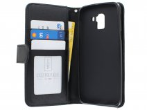 Zipper Book Case Zwart - Samsung Galaxy J6 2018 hoesje