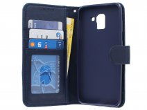 Bookcase Wallet Navy - Samsung Galaxy J6 2018 hoesje