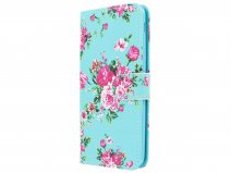 Flower Bookcase Wallet - Samsung Galaxy J6 2018 hoesje