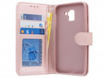 Bookcase Wallet Rose - Samsung Galaxy J6 2018 hoesje