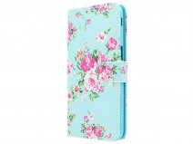 Book Case Bloemenprint - Samsung Galaxy J6 Plus hoesje