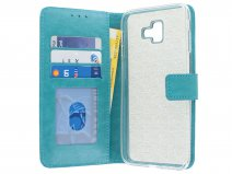 Book Case Turquoise - Samsung Galaxy J6 Plus hoesje