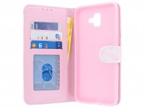 Book Case Pink Marble - Samsung Galaxy J6 Plus hoesje