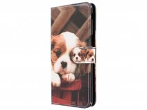 Book Case Puppy Hondje - Samsung Galaxy J6 Plus hoesje