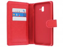 Full Wallet Case XL Rood - Samsung Galaxy J6+ 2018 hoesje