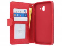 Zipper Book Case Rood - Samsung Galaxy J6 Plus hoesje