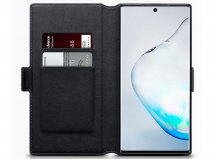 CaseBoutique Slim Book Zwart Leer - Samsung Galaxy Note 10+ hoesje