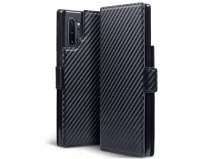CaseBoutique Slim Bookcase Carbon - Samsung Galaxy Note 10+ hoesje