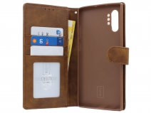 Classic Wallet BookCase Bruin - Samsung Galaxy Note 10+ hoesje