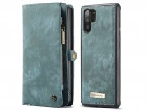 CaseMe 2in1 Wallet Ritsvak Case Blauw - Galaxy Note 10+ Hoesje
