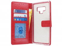 Bookcase Wallet Rood - Samsung Galaxy Note 9 hoesje