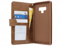 Zipper Book Case Bruin - Samsung Galaxy Note 9 hoesje