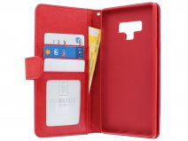 Zipper Book Case Rood - Samsung Galaxy Note 9 hoesje