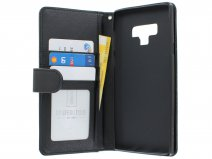 Zipper Book Case Zwart - Samsung Galaxy Note 9 hoesje