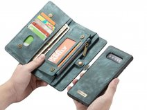 CaseMe 2in1 Wallet Ritsvak Case Blauw - Samsung Galaxy S10 Hoesje