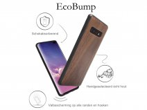 Woodcessories EcoBump Walnut - Samsung Galaxy S10 hoesje
