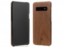 Woodcessories EcoCase Slim Walnut - Samsung Galaxy S10 hoesje
