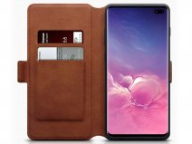 CaseBoutique Wallet Case Cognac Leer - Galaxy S10+ hoesje