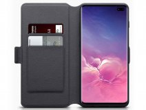 CaseBoutique Wallet Case Grijs Leer - Galaxy S10+ hoesje