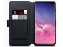 CaseBoutique Wallet Case Zwart Leer - Galaxy S10+ hoesje