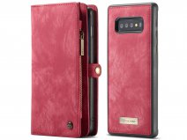 CaseMe 2in1 Wallet Ritsvak Case Rood - Samsung Galaxy S10+ Hoesje