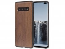 Woodcessories EcoBump Walnut - Samsung Galaxy S10+ hoesje