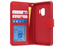 Bookcase Deluxe Rood - Samsung Galaxy S9 hoesje
