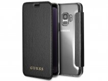 Guess Iridescent Bookcase Zwart - Galaxy S9 hoesje