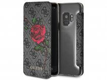 Guess Rose Bookcase Grijs - Samsung Galaxy S9 hoesje