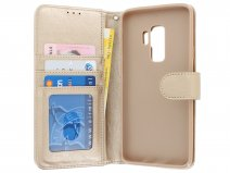Bookcase Deluxe Goud - Samsung Galaxy S9+ hoesje