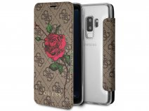 Guess Rose Bookcase Bruin - Samsung Galaxy S9+ hoesje