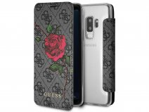 Guess Rose Bookcase Grijs - Samsung Galaxy S9+ hoesje