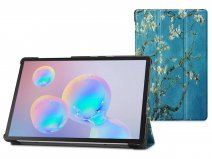 Smart Tri-Fold Bookcase Floral - Samsung Galaxy Tab S6 Hoesje
