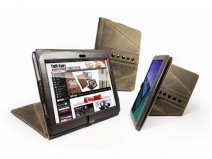 Tuff-Luv Tri-Axis Saddleback Leren Case Hoes Sony Tablet S