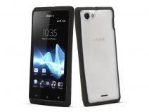 Muvit Bimat Back TPU Crystal Case voor Sony Xperia J