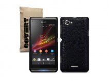 Covert Leather-look Back Case Hoesje voor Sony Xperia L