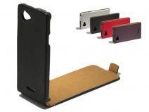 Slim Elegant Leather Case voor Sony Xperia L