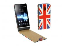 Great Brittain Flag Flip Case Hoes Sony Xperia P (LT22i)