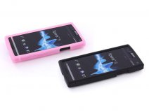Mobiparts Silicone Skin Case Hoes voor Sony Xperia S