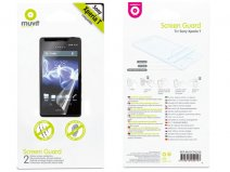 Muvit Screenprotector (2-pack) voor Sony Xperia T (LT30i)