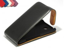 Classic Leather Flip Case voor Sony Xperia T (LT30i)