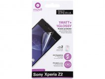 Muvit Screenprotector Glossy & Matte voor Sony Xperia Z2