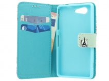 Retro Paris Wallet Case - Sony Xperia Z3 Compact hoesje