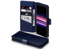CaseBoutique Leather Wallet Case Donkerblauw - Sony Xperia 5 hoesje