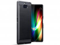 CaseBoutique Carbon TPU Skin - Sony Xperia 10 Plus Hoesje