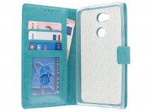 Bookcase Wallet Turquoise - Sony Xperia L2 hoesje
