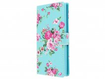 Flower Bookcase Wallet - Sony Xperia L2 hoesje