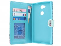 Retro Paris Bookcase Wallet - Sony Xperia L2 hoesje