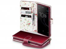 CaseBoutique Flower Bookcase - Sony Xperia XA1 Plus Hoesje